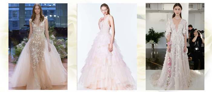 цветные платья для свадьбы 2017-2018