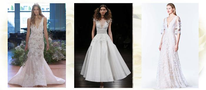 Свадебные платья с v-вырезом 2017-2018