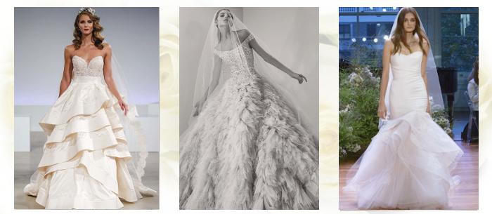 Свадебные платья многослойные сезон осеньзима 2017-2018