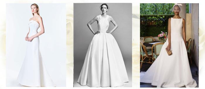 Атласные свадебные платья осень-зима 2017-2018
