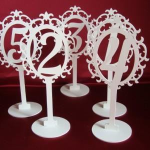 Резные номера на столы на свадьбу