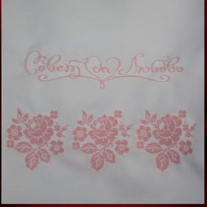 Рушник розовый вышивка 24