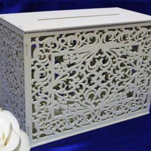 Сундучок деревянный резной на свадьбу айвори 33