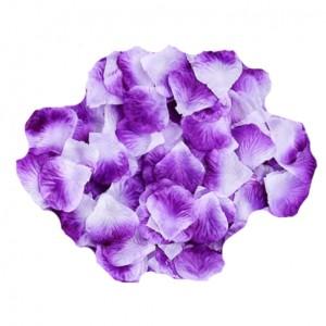 Бело-лиловые лепестки роз