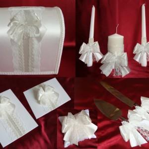 Комплект свадебных аксессуаров кремовый