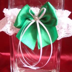 Подвязка изумрудно-зелёная 68