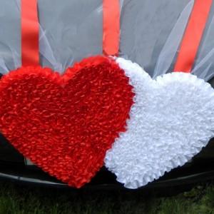 Сердца на радиатор на свадьбу 21