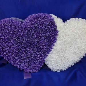 Сердца на радиатор фиолетовые 22