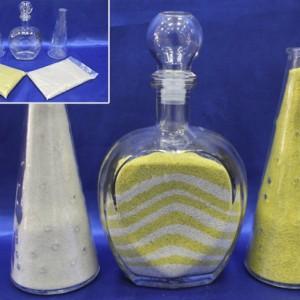 Набор для песочной церемонии жёлтый