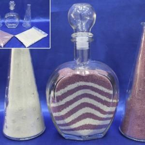 Набор для песочной церемонии розово-сиреневый