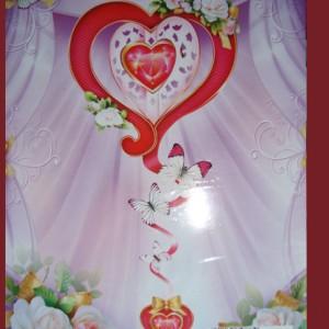 Подвесное сердце для свадебного декора