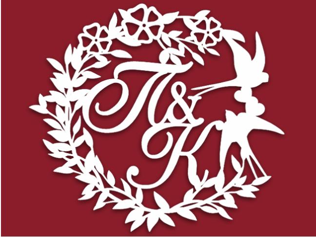 Герб семьи на свадьбу с ласточками 83