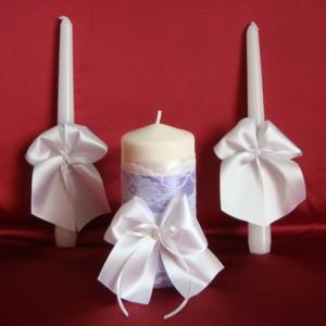 Свечи семейный очаг фиолетовый 86
