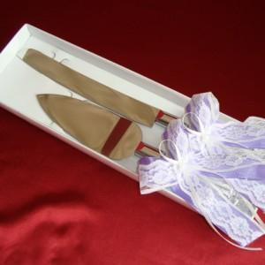 Фиолетовый набор ля свадебного торта