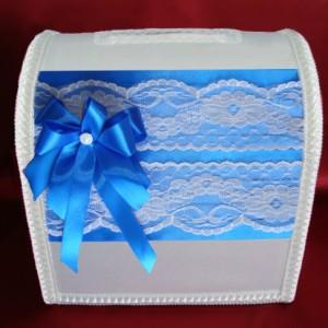 Синий свадебный сундучок 120