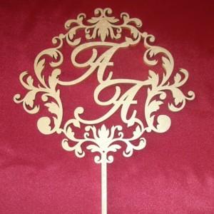 Свадебный герб-топпер