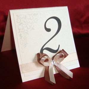 Номера на столы айвори шоколад 5
