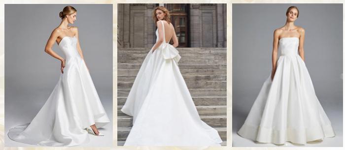 Свадебные атласные платья 2019