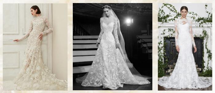 Свадебные кружевные платья 2018-2019
