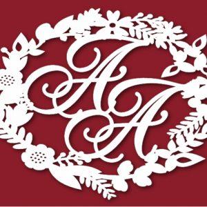 Герб с цветами на свадьбу 42