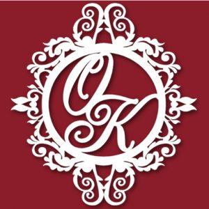 Семейный герб на свадьбу монограмма47