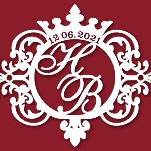 Герб на свадьбу инициалы 53