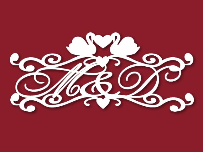 Герб на свадьбу лебеди
