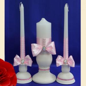 свечи семейный очаг розовый 105