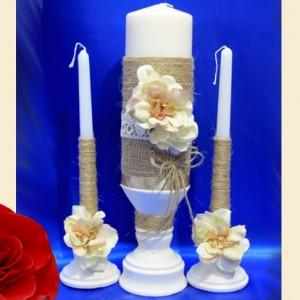 свечи в стиле рустик на свадьбу 108