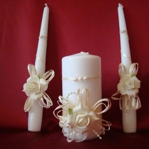 Свечи семейный очаг айвори 2