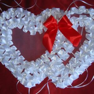 сердца на радиатор красные