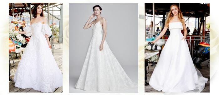 Свадебное платье А-силуэта 2020