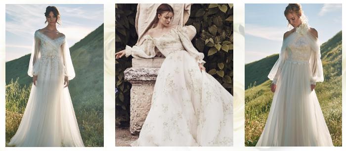 Свадебные платья с рукавами 2020