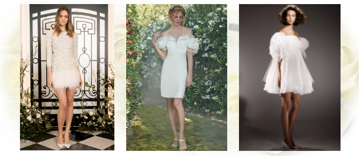 Короткое свадебное платье 2020