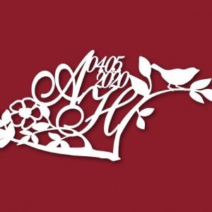 Герб на свадьбу ветка дерева 61