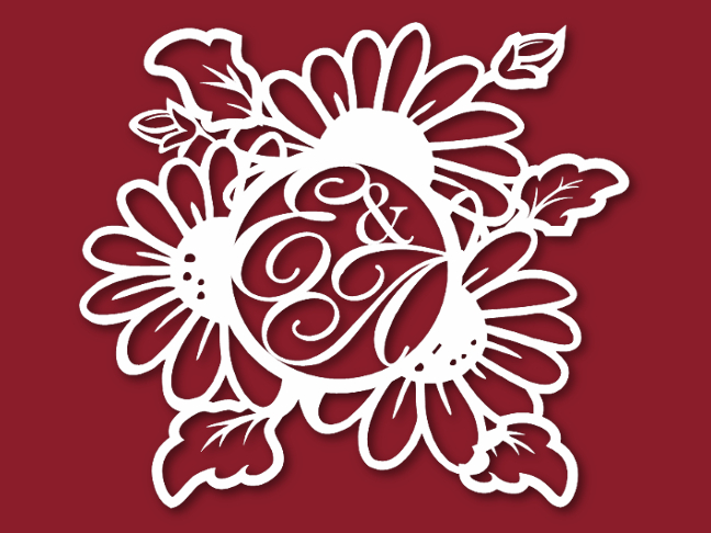 герб на свадьбу с ромашками 62