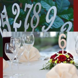 номер стола в цветы