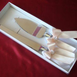 Набор для торта на свадьбу Персиковый с розочками