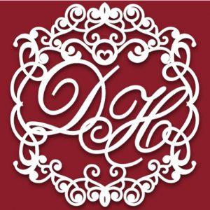 Свадебный герб барон с вензелями