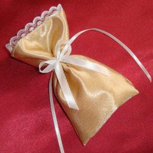 Золотая бонбоньерка на свадьбу