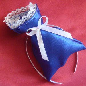 Бонбоньерка мешочек синяя