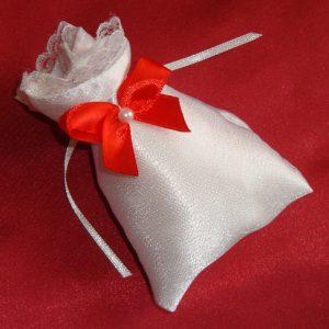 бонбоньерка мешочек с красным бантом