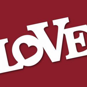 объёмное слово для свадьбы love