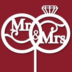 Свадебный топер обручальные кольца