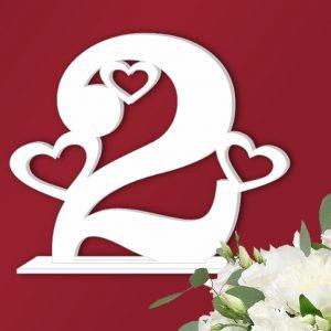 номер стола на свадьбу с сердечками